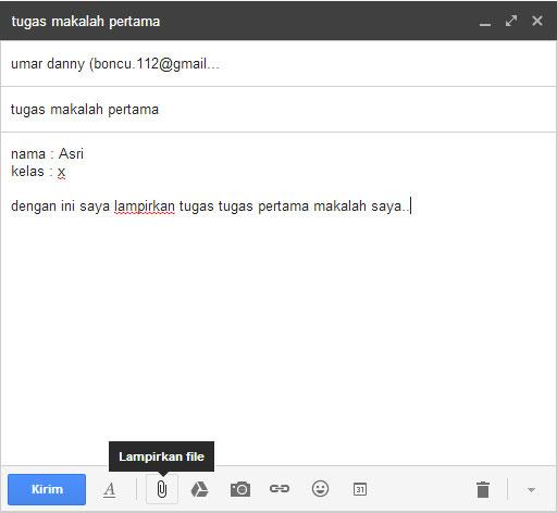 cara kirim email di google