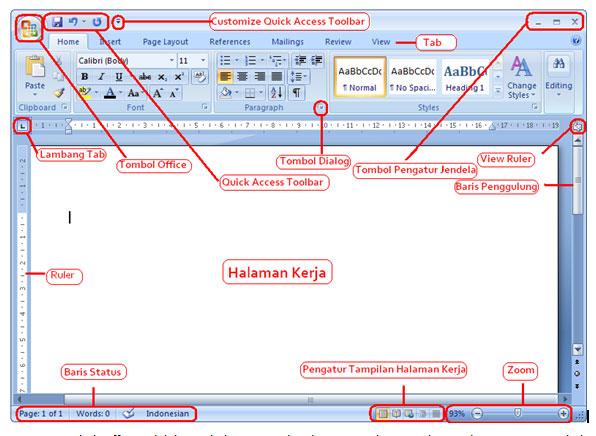 panduan belajar microsoft word 2007