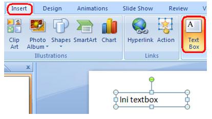 gambar text box power point