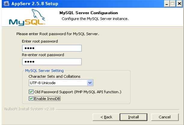 gambar instal appserv 3