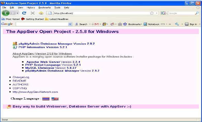 gambar install appsrerv 4