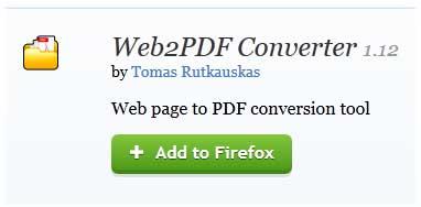 addon web2pdf