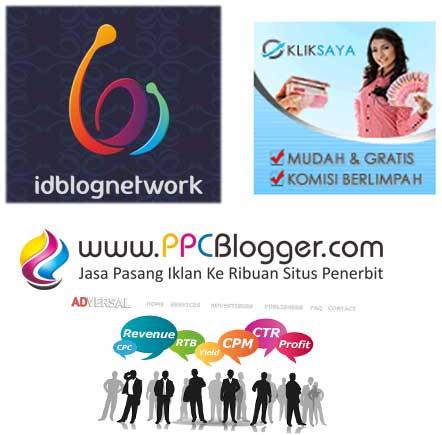 gambar penyedia layanan untuk monetize blog