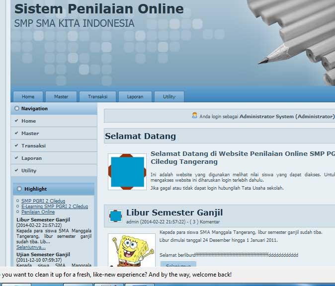 aplikasi sistem informasi penilaian online