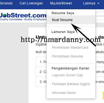 cara mengisi resume jobstreet