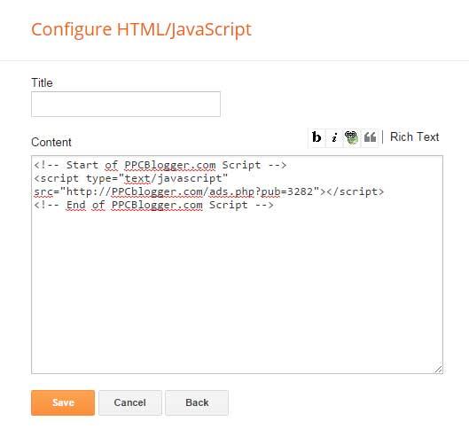 gambar pasang kode html ppcblogger