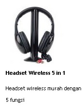 jual headset wireless 5 in 1 murah
