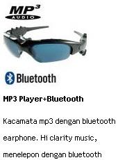 jual kacamata mp3 dengan bluetooth earphone Hi clarity music menelpon dengan bluetooth online