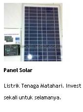 jual panel solar listrik tenaga matahari investasi sekali untuk selamanya online