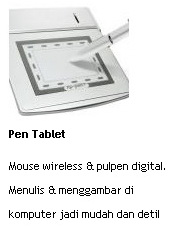 jual pen tablet mouse wireless dan pulpen digital online