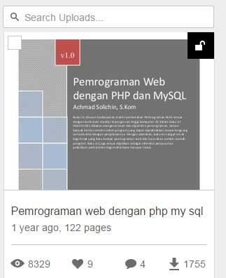 buku gratis bahasa pemrograman php dan mysql