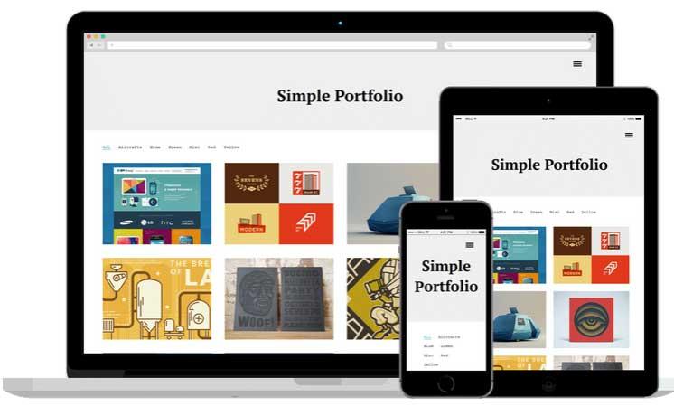 template wordpress simple responsvie