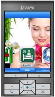 tampilan layar menu utama program