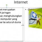 Contoh Powerpoint~Membuat Slide Presentasi tentang Internet