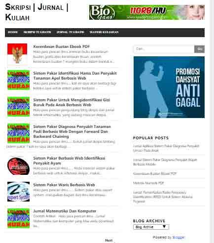 template blogspot gratis keren minimalis