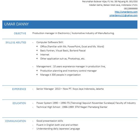 Cara Buat Resume Untuk Melamar Kerja Online Dengan Ms Word