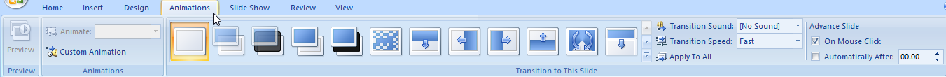 tab animations PowerPoint