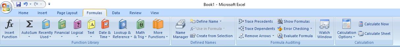 tab menu formulas